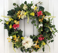 Holland Silk Spring Front Door Wreath 22 in