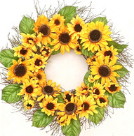 Sara's Sunflower Silk Spring Door Wreath 22 in