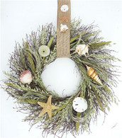 Pawleys Seashell Summer Wreath 22 in