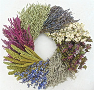 Brookgreen Wheel Dried Floral Spring Wreath 20 in