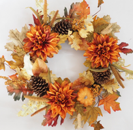 Madison Harvest Silk Fall Door Wreath 22 inches