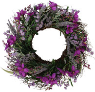 Lavender Blossom Silk Spring Door Wreath - 22 inch