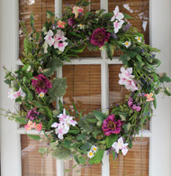 Windsor Silk Spring Door Wreath - 22 in
