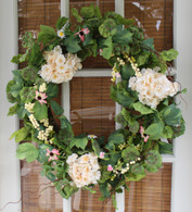 Cottage Garden Silk Spring Door Wreath - 22 inch