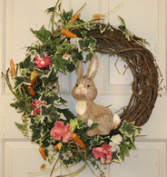 Cottontail Silk Front Door Easter Wreath 22 in