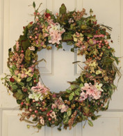 Serene Creek Silk Spring Front Door Wreath 22 in