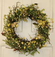 Yellow Brook Silk Spring Front Door Wreath 22 in