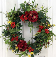 Wistful Vista Silk Spring Front Door Wreath 22 in