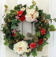 Clarion Ridge Silk Spring Door Wreath 22 in