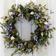 Windvale Silk Spring Door Wreath 22 in