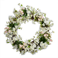 Cherry Blossom Silk Spring Door Wreath