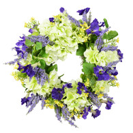 Lavender and Petunia Silk Spring Door Wreath