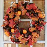 Montpelier Harvest Silk Fall Door Wreath 22 inch