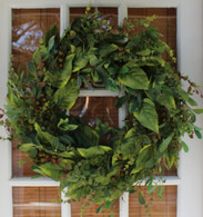 Wintonbury Flora Silk Door Wreath 22 In