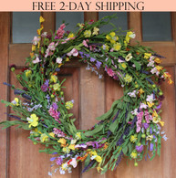 Canterbury Spring Front Door Wreath - 24 in