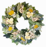 Abby Road Dried Flower Wreath - 22 inch