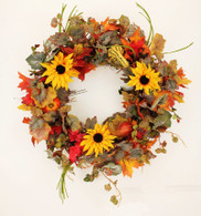 Hamorton Silk Front Door Fall Wreath 22 in