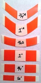 """Red Liner """"Sensi-Tak"""" 1/2"""" Straight Bulk Strips (1000) - $35.00"""