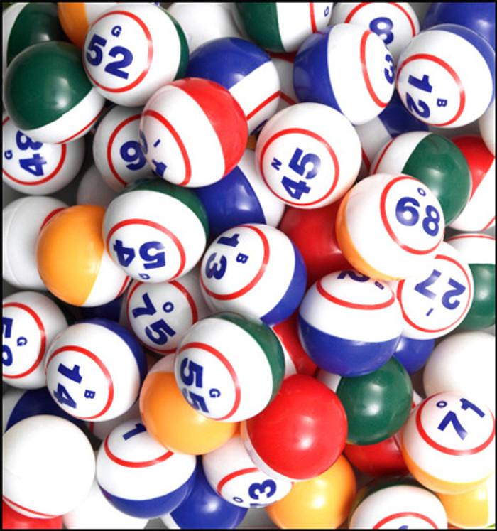 Samson Multi-Colored Bingo Balls