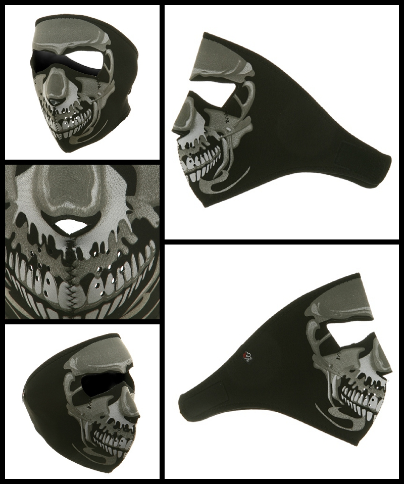 Chrome Skull Motorcycle Face Mask