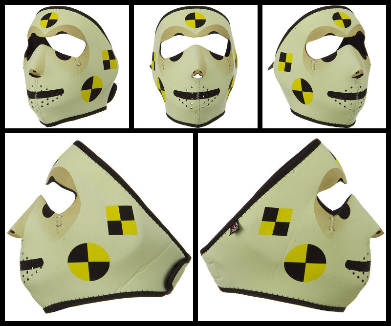 Crash Dummy Motorcycle Face Mask