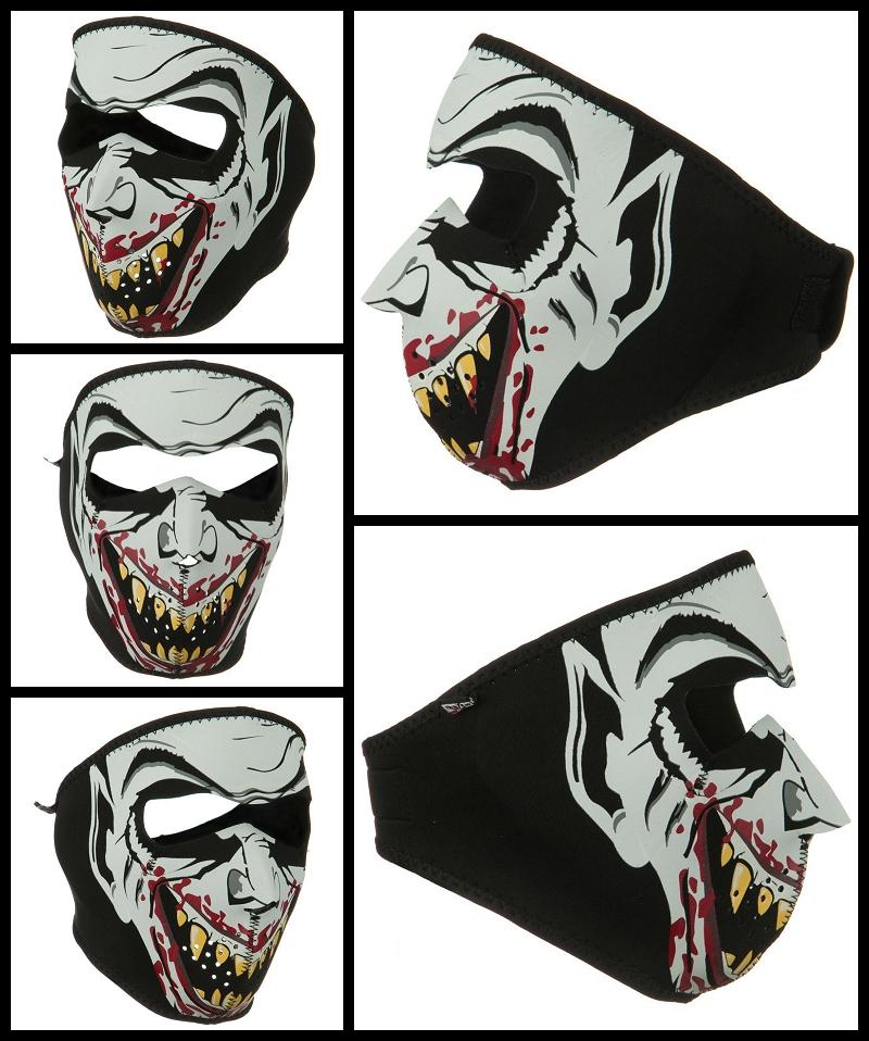 Glow in the Dark Vampire Neoprene Face Mask