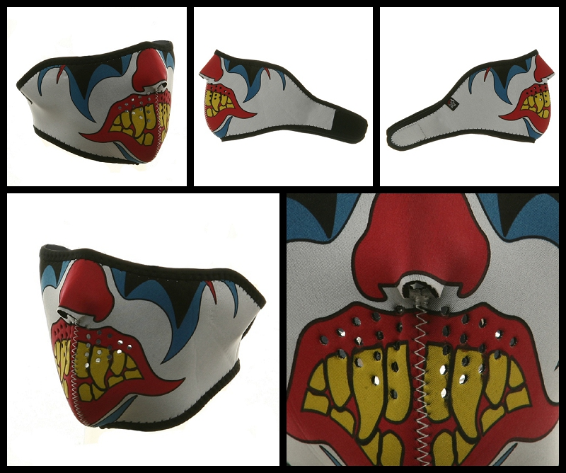 Half Clown Neoprene Face Mask