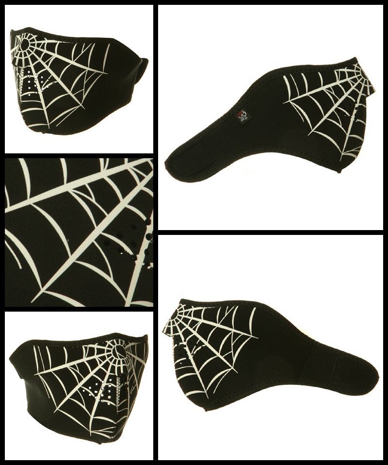 Half Spider Web Neoprene Face Mask