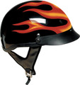 Flame DOT Shorty Motorcycle Helmet