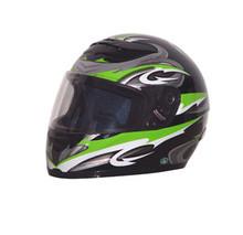 DOT Full Face Graphic RZ80 Green Motorcycle Helmet