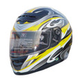 Yellow Full Face Motorcycle Helmet