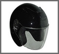 DOT ¾ Shell RK4 Black Motorcycle Helmet with removable visor