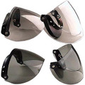 DOT 3/4 Shell 3 Snap Flip Motorcycle Helmet Shield visor
