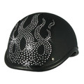 flame rhinestone helmet patch