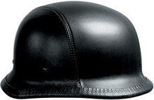 Leather German Motorcycle Helmet