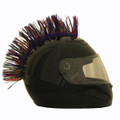 Multi Colored Motorcycle Helmet Mohawk
