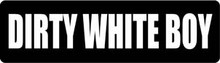 Dirty White Boy Motorcycle Helmet Sticker
