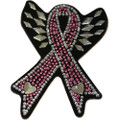 Breast Cancer Rhinestone Helmet Patch