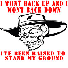 I won't back up and I won't back down shirt I've been raised to stand my ground Shirt