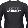 I Can't Remember Your Name, Mind If I Call You Asshole? Biker T-Shirt