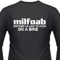 Milfoab. Mothers I'D Like To Fuck - On A Bike Biker T-Shirt