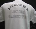 my boss is a jewish carpenter white tee