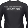 There Are 3 Kinds Of People Those Who Count And Those Can't Biker T-Shirt