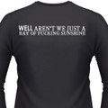 Well Aren't You Just A Ray Of Fucking Sunshine Biker T-Shirt