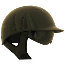 Black D.O.T. Polo with Shield Motorcycle Helmet Right Side