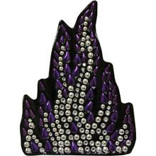 Purple Flame Rhinestone Helmet Patch