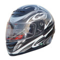 Black Full Face Motorcycle Helmet