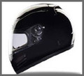 Race/DOT Full Face Black Motorcycle Helmet