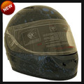 AIRBRUSHED FULL FACE BONEYARD MOTORCYCLE HELMET IN BLUE