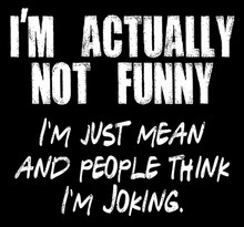I'm actually not funny, I'm just really mean and people think I'm joking shirt